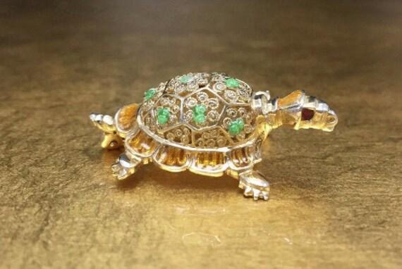 Animal Gift Pin, Silver Pin, Turtle Jewelry, Turtl