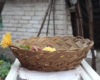 Vintage wicker basket of wicker a3530dcb3c