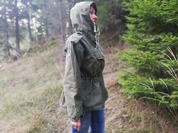 Vintage anorak - Green jacket from canvas - Surviv