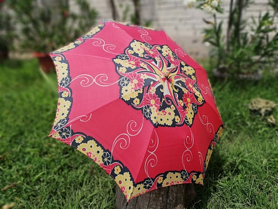 Vintage umbrella from 70s - Multicolored umbrella