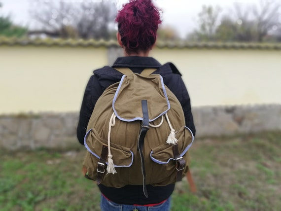 Large canvas backpack - Mountain backpack - Hiking