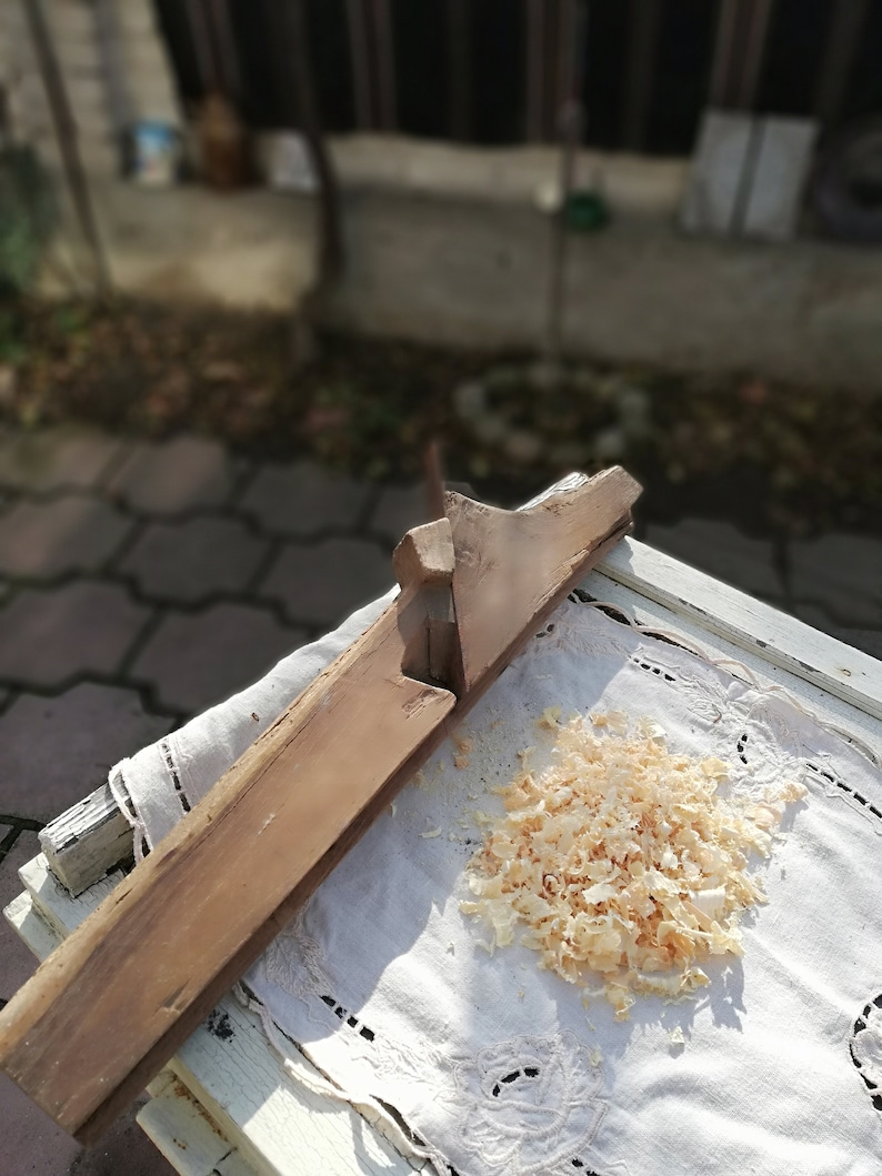 Christmas gift Bit decor Antique woodworking 1800s Antique woodworking planer Workshop decor Antique tool handmade Woodworking tool
