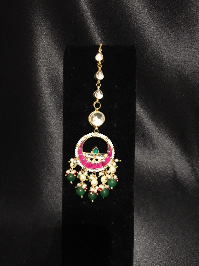 Sabyasachi Kundan Polki maang mang tika jewelry wedding jewelry @AryaFashions