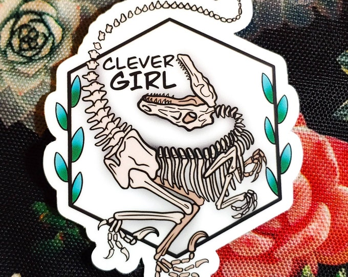 Featured listing image: Jurassic Park- Clever Girl Sticker