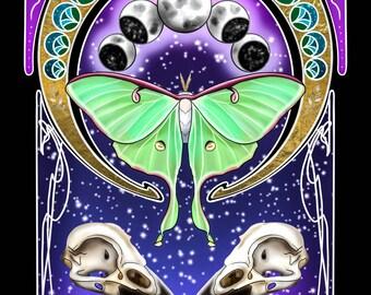 La Luna Tarot Card Print