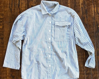 Items similar to Vintage Pajama Shirt - 60s 70s Striped Pajama Long ... f0243b2e2