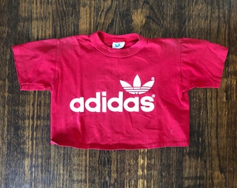 caa0f6f63b46 1980s Adidas Crop Top Tee