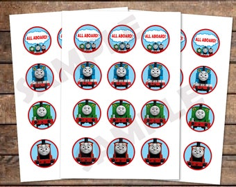 picture about Free Printable Thomas the Train Cup Cake Toppers called Prepare cupcake topper Etsy