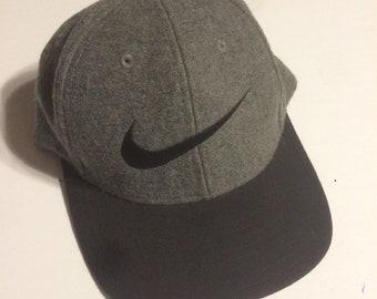 e6ce95ceb44 Vintage Wool Nike Strapback Hat