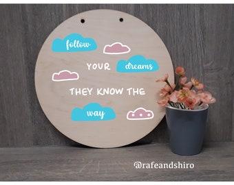 Follow Your Dreams Stencil Sjabloon