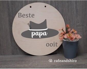 Beste Papa stencil sjabloon