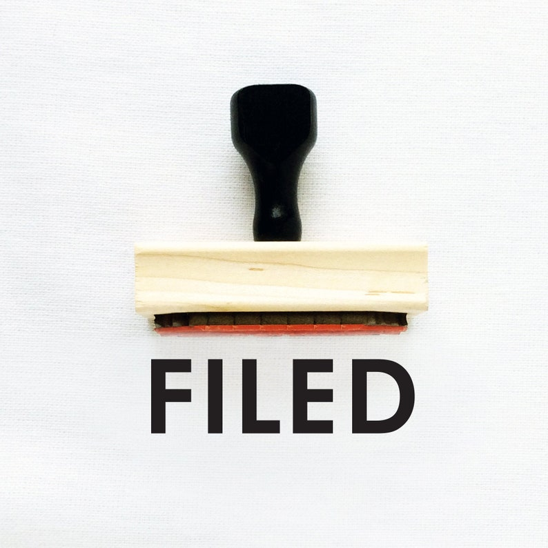 Business Business Stamp #4 Approved Stamp Office Paperwork Stamps Includes Handle Wooden or Self-Inking Office Stamp FILED