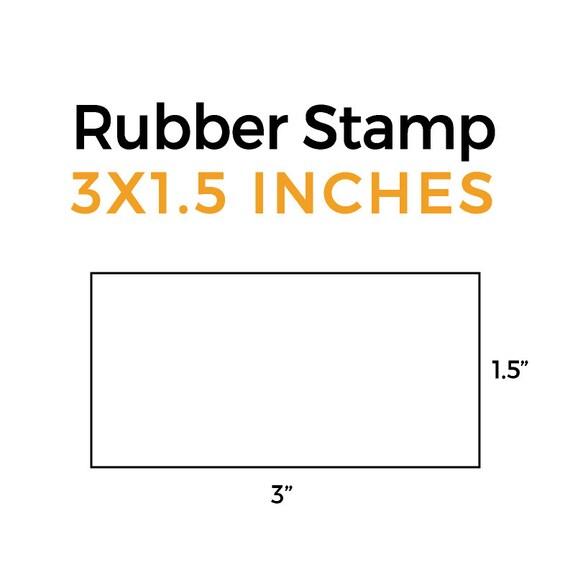 Wedding Stamp Business Stamp Custom 5\u2033x7 Stamp Optional Handle Logo Stamp Address Stamp Wooden Rubber Stamp Customized Stamp