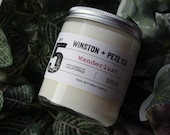 Wanderlust Soy Candle / 8oz #5 / Scented Candle / Soy Candle / Vegan Candle / Candle / Gifts / Book Candle / Travel Gift / Travel / Handmade
