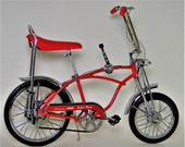Vintage Bicycle Schwinn Apple Krate Stingray Classic Antique Bike Collector Metal Collectible Cycle Art Red 1960s Model READ DESCRIPTION
