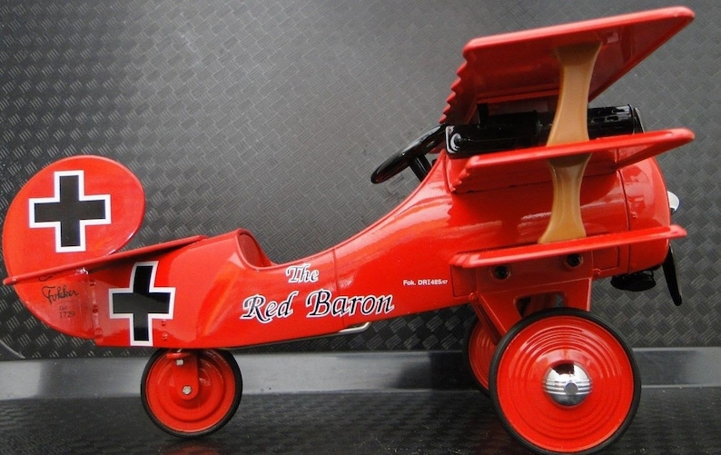 Red Baron Pedal Car Vintage Antique Airplane Plane Fokker | Etsy