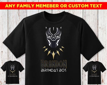 Black Panther Birthday Shirt Family With Number Wakanda For Toddler Boy Personalized Girl