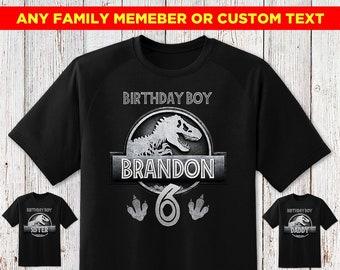 ccb99cd99e15e Jurassic Park Birthday Shirt Jurassic World Birthday Shirt Family Shirts  For Birthday Boy Shirt 2 Dinosaur Jurassic Park Shirt Boy