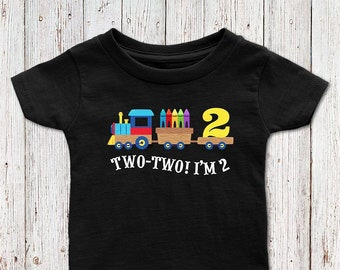 Two Train Birthday Shirt Second Boy 2 Year Old 2nd