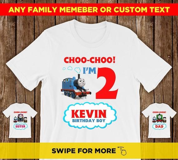 Thomas The Train Birthday Shirt Family Custom Shirts Boy Boys And Friends