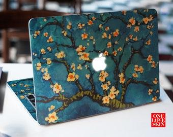 0057fcbf73b3 Van Gogh almond branch print macbook skin Protective all macbook model  sticker macbook 2018 decal Macbook Air 11 13 Macbook Air 11 Decal