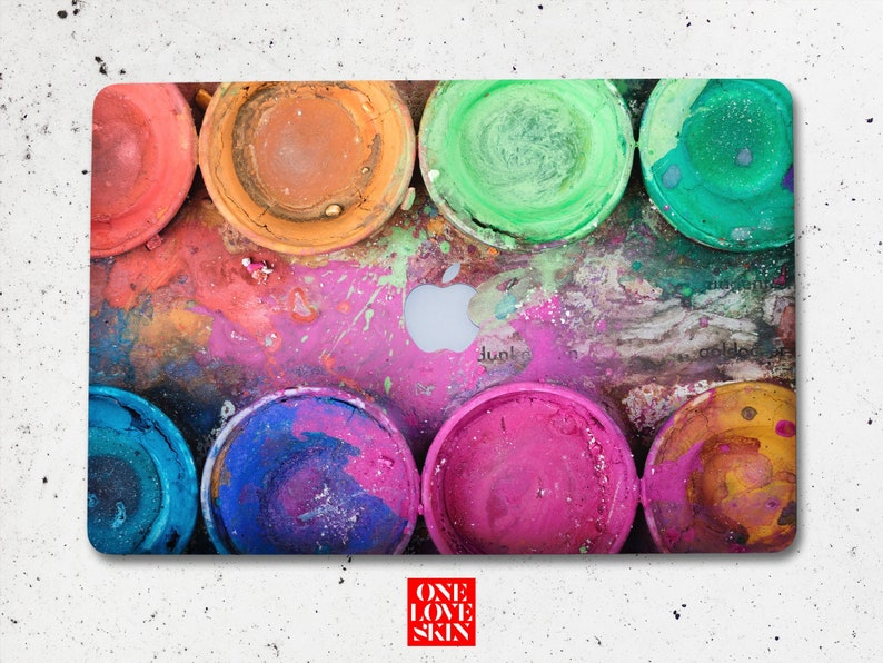 Watercolor paints macbook pro 13 hard sticker paint macbook skin Art  macbook skin watercolor air skin Elephant MacBook Pro Skin