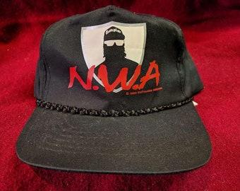 0f933001a49ed NWA easy e RUTHLESS records snapback rap hat --- rare 90s hip hop N.W.A.  compton cali