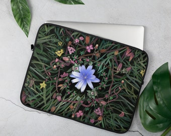 Floral Mandala Petals Cross Body Shoulder Messenger Laptop Bag