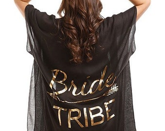 e3bb0d411283d Bridal Party Swimsuit Cover Up Kimono / Bride / Bride Tribe / Mother of the  Bride / White / Black / Coverup / Bridesmaid Gifts / Wedding
