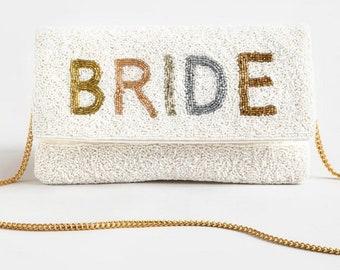 EB3338MRS Mrs Purse Bride Clutch Purse for Wedding Bridal Clutch Custom Gift for Bride to Be Personalized Wedding Gift for Bride
