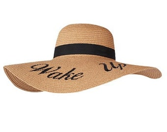 560d108e250c8 Embroidered Straw Beach Hat   Do Not Disturb   Leave A Message   Rose All  Day   Beach Life   Sun Please   Wake Up   100% Paper   Sun Hat