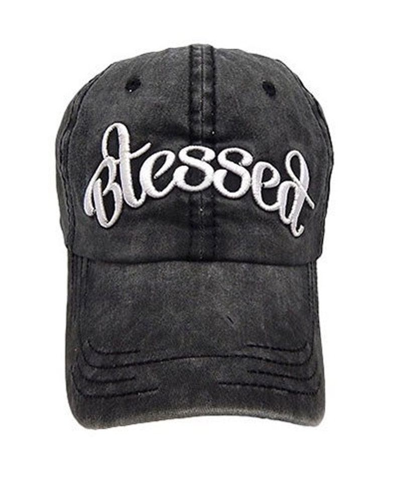 6373c8948 Distressed Lucky / Blessed Baseball Cap / Hat / Choose Your Color /  Embroidered / Joanna Gaines Inspired