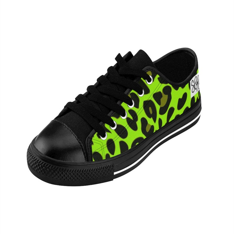 LIME LEOPARD Women/'s Sneakers