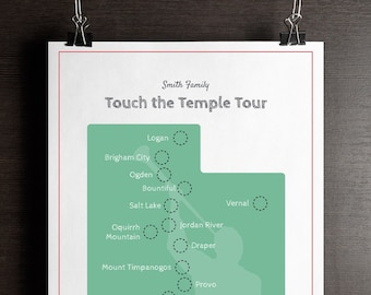 Map Of Arizona Lds Temples.Lds Temple Map Etsy