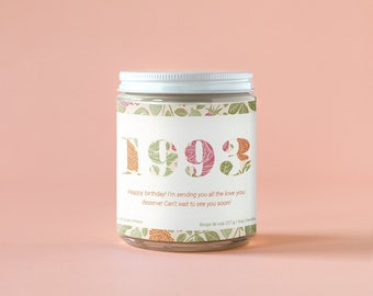 Personalized Candle for a Birthday - Choose Your Scent, 8oz Wood Wick Soy Candle