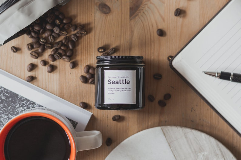 SEATTLE  Wood Wick Candle Candle Coffee Coffee Candles image 0