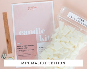 Candle Refill Kit - Choose Your Scent, Adult Craft Kit, DIY Gift, 8oz, Minimalist Edition