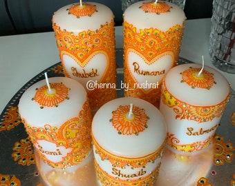Henna Design Candles Etsy