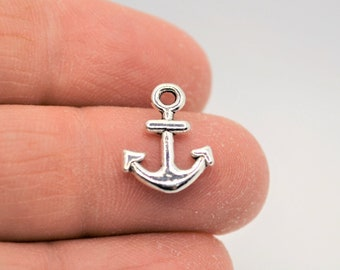 5 Enamel Anchor Charms Gold Captain Pendants Findings Boating Assorted Lot