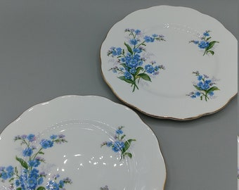 Royal Albert July Forget-Me-Not Plate Flower of the Month Series Bread And Butter Plate Bone China England Dessert Plate