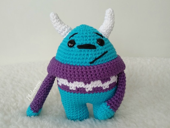 Amigurumi Crochet Sulley Free Pattern -Patron Sulley (Monster İnc | Hunde | 428x570