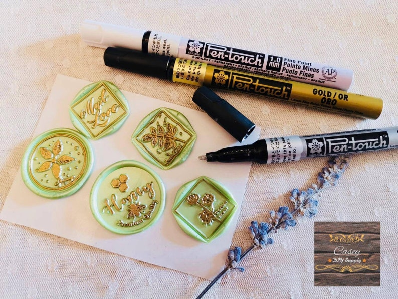 3 colors to choose from scrapbooking DIY wax seal decoration Sakura 1.0mm permanent metallic pen for wax seal