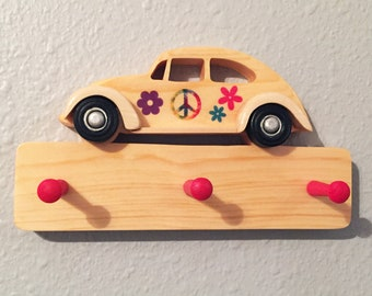 Classic Cars Wall Hooks 1934 Ford 3-Window Coupe Hot Rod Wooden Key Holder for wall