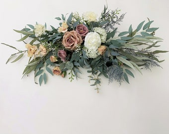 Front Door Decorative Swags with Green Leaves for Wedding Arch Home Garden Mirror Decor WDDH 23.6 Floral Swag Large Wedding Backdrop Flowers Swag