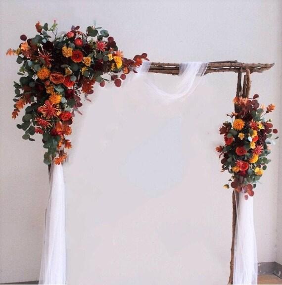 Vintage Rose Chrysanthemum Eucalyptus Arch Flowers Wedding Etsy