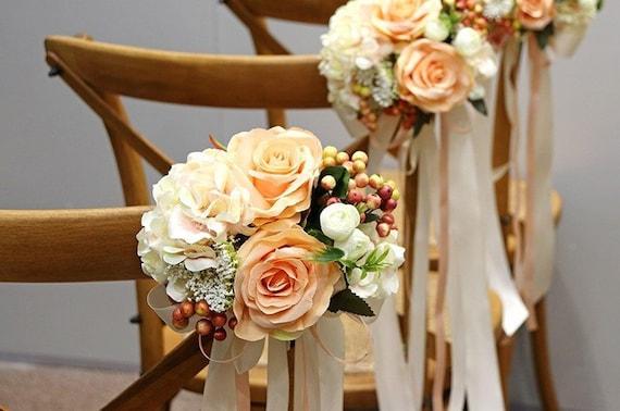 Handmade Silk Wedding Bridal Flower Chair Bouquet for Wedding Party Decor