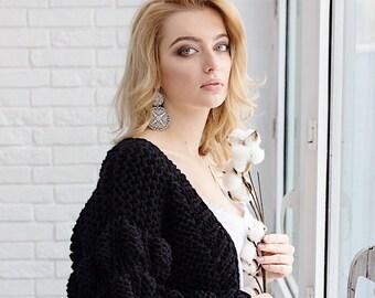 Rockabilly Top Vintage 1950s Bubble Gum Pink Cardigan Size M Free Shipping Vintage Sweater Cardigan Sweater Geraldine Eccard Cardigan