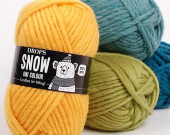 Wool Yarn Drops Snow Chunky Yarn Bowl Super Bulky Yarn Giant Yarn Pure Wool Thick Yarn Felting Yarn Knitting Yarn Feltable Yarn