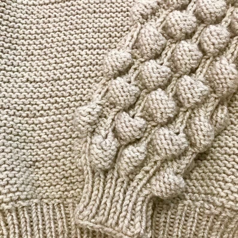 Gray crochet sweater Loose knit sweater Hand knit sweater knitwear Gray wool sweater super chunky yarn Beige boho sweater jersey knit fabric