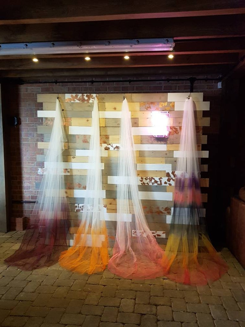 Ombre Wedding Veil Alternative Wedding Veil  Ombre Veil image 0